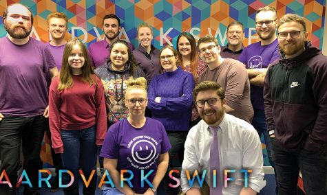 aardvark swift image - purple